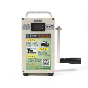 Hand Crank Generatorused Camping Emergency Power Supply With Charger Usb 110v