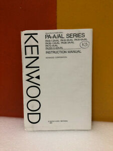 Kenwood Regulated Dc Power Supply Pa a al Series Instruction Manual