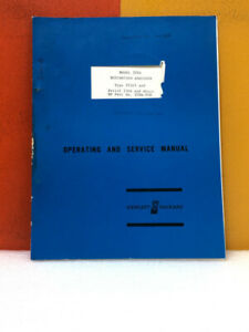 Hp 320a 910 Model 320a Distortion Analyzer Operating Service Manual