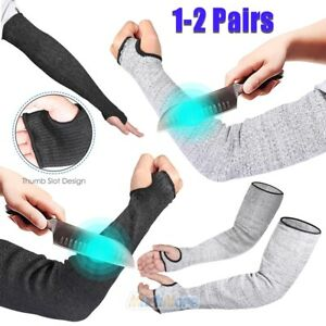 2 Pairs Cut Proof Cut resistant Sleeve Gloves Outdoor Work Safety Protective Arm