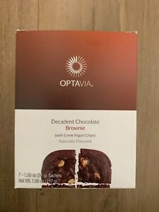 Optavia Decadent Chocolate Brownie 7 Fuelings New In Box Exp 10 9 21