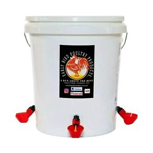 Poultry Waterer Manuel Fill 5 Gallon Capacity