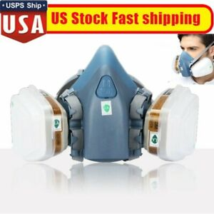 7 17 In 1 Half Face Gas Mask Respirator For 7502 Facepiece Spraying Painting