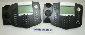 Lot Of 2 Polycom Ip550 Soundpoint 506 10 4036 W stand No Handset Receiver