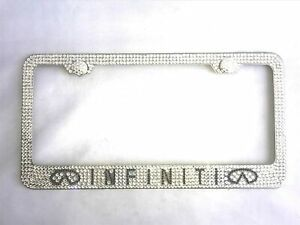 Ice Out License Plate Cover Frame Holder Bling Emblem Crystal For Infiniti