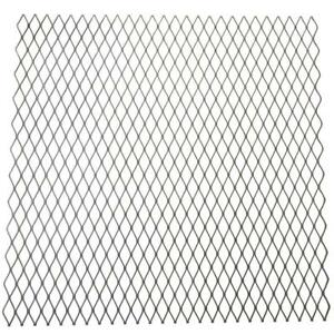 Expanded Metal Stock Sheet 24 X 12 In Durable Steel Weldable Plain Mesh Sheet
