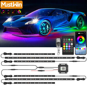 Rgb Car Strip Light 4pcs Dreamcolor Chasing Waterproof Underglow Music Bluetooth