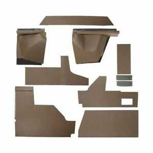 Ez Cab Kit Brown Vinyl With Formed Plastic Compatible With John Deere 4050 4250