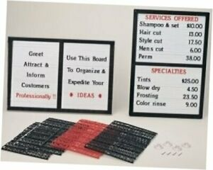 Counter wall Message Board Sign With Interchangeable Letters
