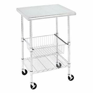Amazoncommercial Heavy duty Stainless Steel Top Work Table Nsf Certified 24 W