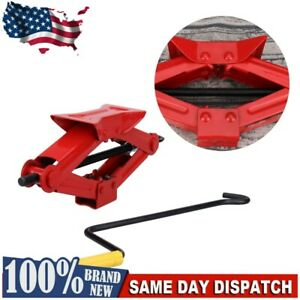 1 Ton Heavy Duty Steel Professional Scissor Jack For Car Auto Changing Tire Tool