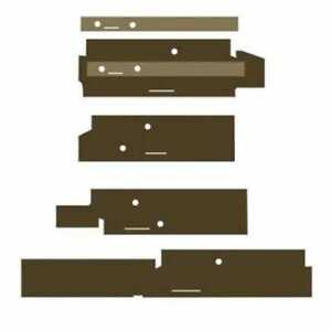 Cab Foam Post Kit Brown Compatible With John Deere 8450 8650 8850