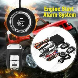 Car Alarm Security System Keyless Entry Push Button Kit Remote Control System Us
