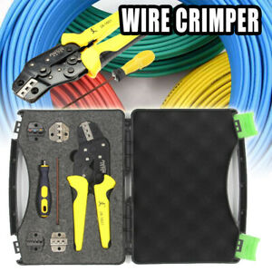 5 In 1 Wire Crimper Set Pliers Terminal Crimping Tool Kit 5 Pcs Spare Dies