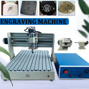 Usb 4 Axis 3040 Cnc Router Engraver 400w Woodwork Engraving Drilling Machine Us