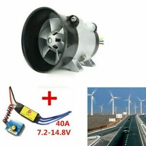 12v Car Universal Electric Turbine Turbo Charger Boost Air Intake Fan 40a 380w
