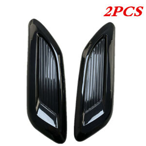 Car Decorative Air Flow Intake Hood Scoop Vent Bonnet Engine Cover Sticker Abs Fits 2005 Ford Mustang