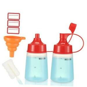 Condiment Squeeze Bottle Wide Mouth Pack 180ml Clear Squeeze 6 Oz 180 Ml 2