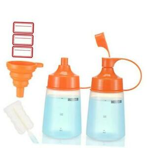 Condiment Squeeze Bottle Wide Mouth Pack 180ml Empty Reusable 6 Oz 180 Ml 2