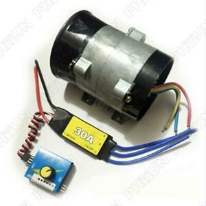 12v Car Electric Turbo Supercharger Air Intake Fan Boost W 30a Brushless Us Ship