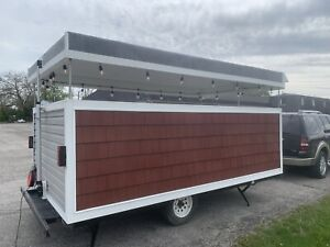 Custom Built To Order Food Concession Trailer Can Add Mesh Enclosure If Needed