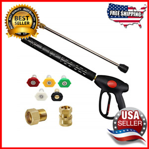 4000 Psi Replacement Pressure Washer Gun 16 Inch Extension Wand M22 15mm
