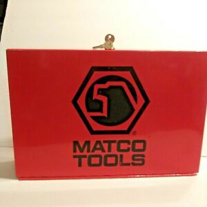 Matco Pry Bar Screwdriver Side Cabinet Holds 26 Items Made In Usa 1980 Rare