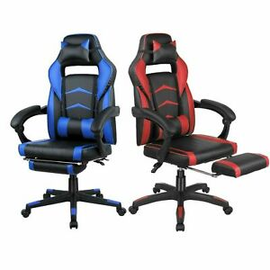 Gaming Chair Ergonomic High back Office Computer Chair Swivel Recliner Footrest