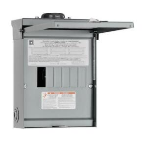 Square D Outdoor Load Center 100 amp Rainproof 6 space Single Phase 12 circuit