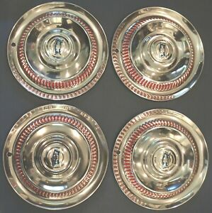 Nos 1953 1954 1955 Corvette Set Of 4 Hub Caps Indented With New Flippers Mint