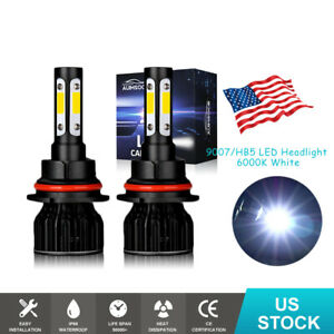 9007 Hb5 Led Headlight High Low Beam Bulbs Kit For Ford Crown Victoria 1998 2011