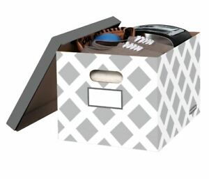 Bankers Box Letter Legal File Stor Box Diamond Design With Grey Lid 3 Boxes