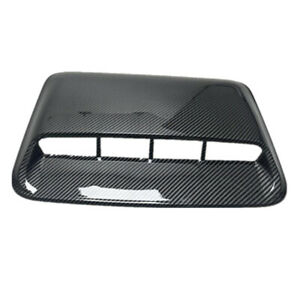 Abs Carbon Fiber Look Air Flow Intake Hood Scoop Vent Outlet Bonnet Cover Forcar Fits 2005 Ford Mustang
