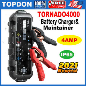 Automatic Battery Charger Maintainer 6v 12v For Motorcycle Trickle Float Boats