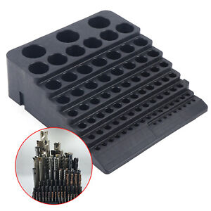 84hole Milling Cutter Storage Box Drill Bit Collet Tool Rack Organizer Container