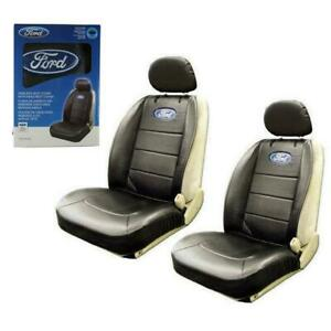 Brand New 2pcs Universal Ford Elite Synthetic Leather Car Truck Suv