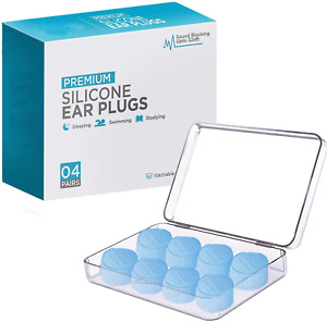 Ear Plugs For Sleeping Reusable Silicone Moldable Noise Cancelling Sound Blocki
