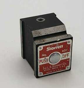 Starrett 657p Magnetic Base Push Button On off