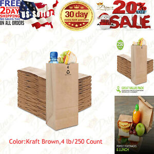 Stock Your Home 4 Lb Kraft Brown Paper Bags 250 Count 4 Lb 250 Count