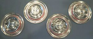 Nos 1953 1954 1955 Corvette Hub Caps W Indentions New Flippers Ncrs Top Flight