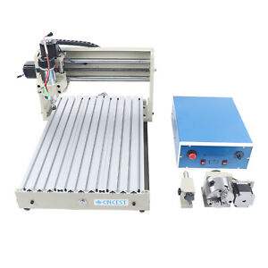 Usb 4 Axis 3040 Cnc Router Engraver 3d Milling Engraving Carving Machine 400w Us
