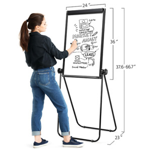 Home Office Board Stand Erase Dry Whiteboard Double Sided Rolling Wheels