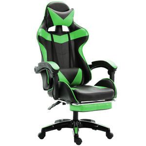 Black green Office Game Swivel Chair Massage Executive Recliner Comfortable Seat