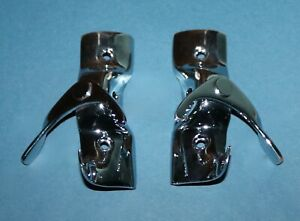 New 1953 1954 1955 Corvette Convertible Top Rear Saw Tooth Latches Mint