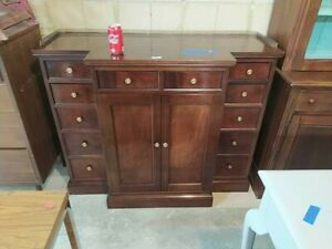 Mahogany Server W Brass Gallery Hickory Chair Co