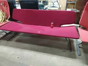 Midcentury Modern Sofa Red Mcm Couch W Metal Base