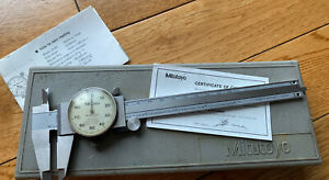 Mitutoyo 6 150mm Dial Caliper 001 Shock Proof Stainless 505 637 50 W Case