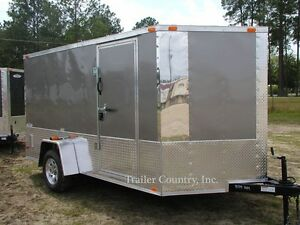 New 2021 6x12 6 X 12 V nosed Motorcycle Enclosed Cargo Trailer