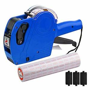 Mx 5500 8 Digits Price Tag Gun With 5000 Sticker Labels And 3 Ink Refill New