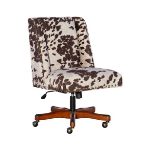24 In Width Big And Tall Udder Madness Fabric Task Chair With Adjustable Height